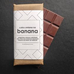Czekolada Cukru Zmiana na Banana wegańska