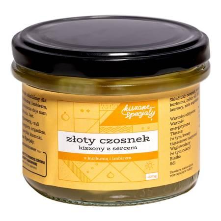Złoty czosnek kiszony z kurkumą i imbirem 220g
